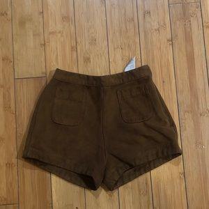 Faux suede Hollister shorts